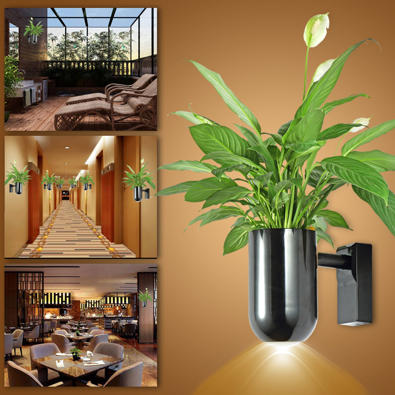 ZjRight Warm White LED lighting Plant growth lamp Indoor flowers potted wall lamp Bedroom living room balcony mall hotel flower семена flowers and plant supermarket