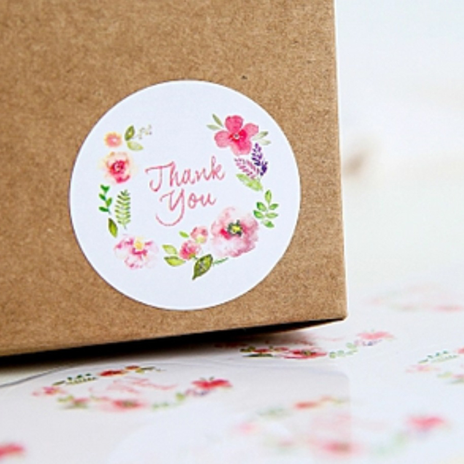 100PCS 3.5cm Flower design sticker labels Creative Paper stickers Thank You Sticker Seals labels for gifts 140 page note paper creative fruit design