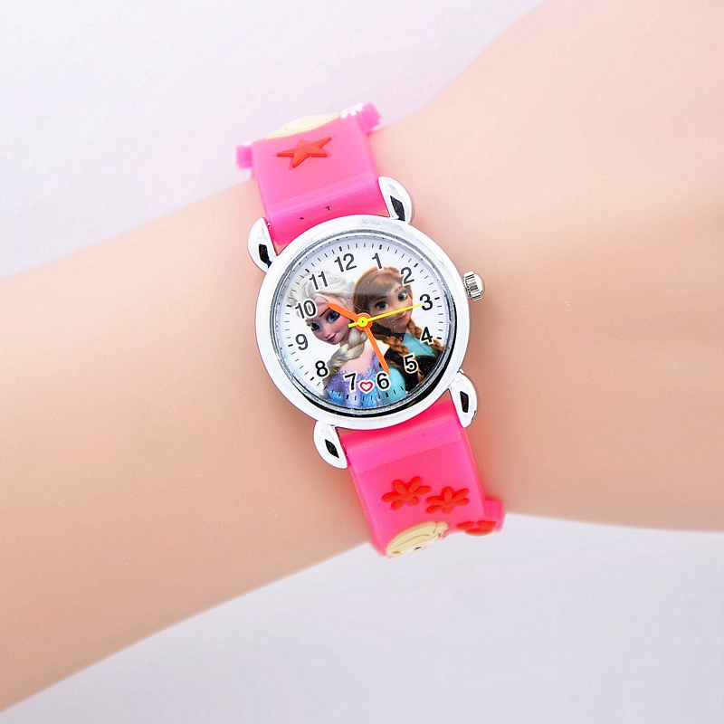 Relojes Mujer 2018 Infantil Reloj Snow Queen Princess elsa anna Cartoon Watch 3D Children Kids Quartz Wristwatches Clock compatible projector lamp for benq 9e 08001 001 mp511
