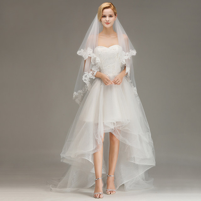 Voile-Mariage-Cheap-Lace-Edge-Short-Ivory-Wedding-Veil-with-Comb-Two-Layers-Tulle-Bridal-Veil (5)