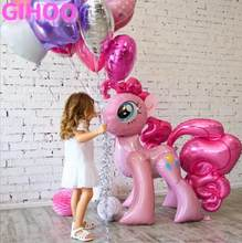 1PC 100*97CM Pink Little Horse Foil Balloons Helium Balloon Kids Toys Wedding Birthday Animal Unicorn Party Decor Supplies(China)