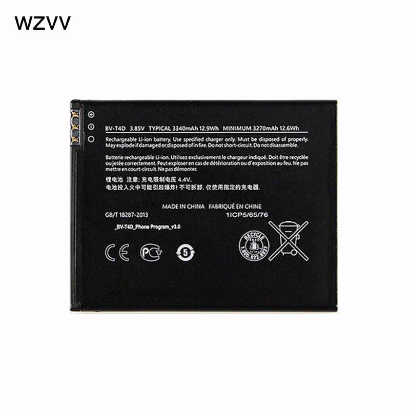 Wzvv новый оригинальный BV-T4D аккумулятора телефона для microsoft <font><b>Lumia</b></font> <font><b>950</b></font> XL CityMan <font><b>Lumia</b></font> 940 XL RM-1118 BVT4D 3340 мАч
