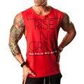 Marca hombres Muslce Chaleco Singlets Tank Tops Culturismo Aptitud de Los Hombres de Algodón Más El tamaño Del O-cuello T Shirt Hombre Jadeo Sin Mangas camisa