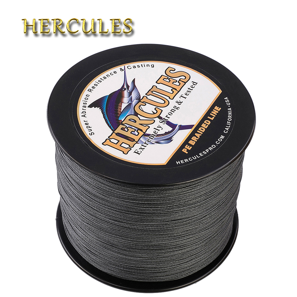 цена на Hercules 1000m Fishing Line 8 Strands Carp Fishing Braided Wire PE Cord Pesca 15 Colors Peche Multifilament Strong 10-300LB
