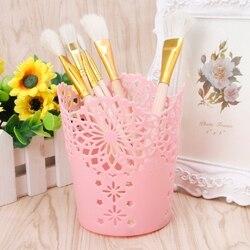 Hollow Flower Brush Storage Pen Pencil Pot Holder Container Desk Organizer Gift