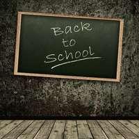 Retro wall blackboard vinyl backdrops for photography custom wood floor baby photo background back to school theme backdrop