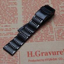 Perlas finas correa extremo Recto hebilla de seguridad para relojes de marca hombres accesorios de 20mm de alta calidad de pulseras de reloj de reemplazo