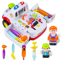 Free Shipping 836 Smart Ambulance Simulation Toy Toy Car Baby Baby Carriage And Toy Early Education