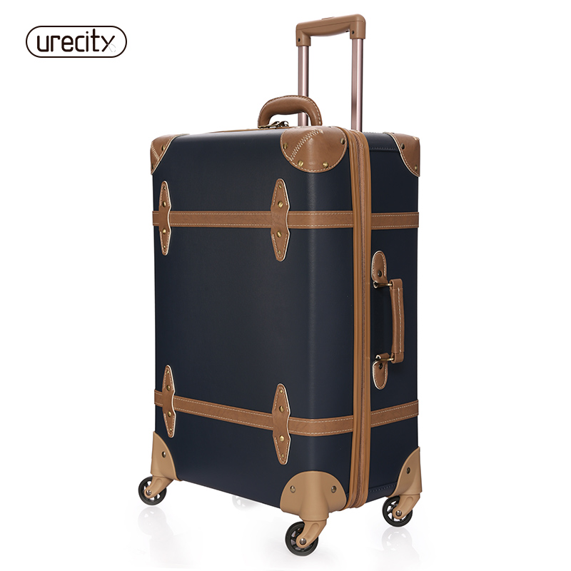 high quality suitcase Crocodile skin travel luggage retro spinner pp pu meterial caary on unisex big inside lock free shipping in Carry Ons from Luggage Bags