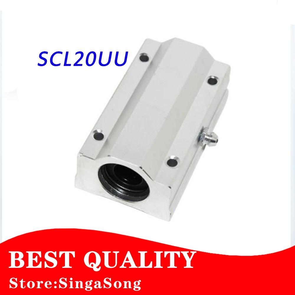 SC20LUU SCS20LUU 20mm Linear Ball Bearing Block for 20mm shafts CNC Router pillow 1pcs scv20 scv20uu sc20vuu 20mm linear bearing block bushing with lm20uu for cnc