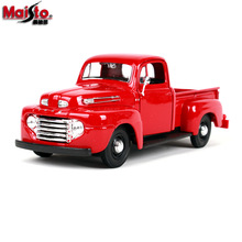 Maisto 1:25 Ford vintage pickup Simulation alloy super toy car model For with Steering wheel control front wheel steering toy цена 2017