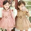 Anlencool Бесплатная доставка 2017 новорожденных девочек осень и зиму одежду новый Корейский внешней торговли толстый слой детей платье детская одежда