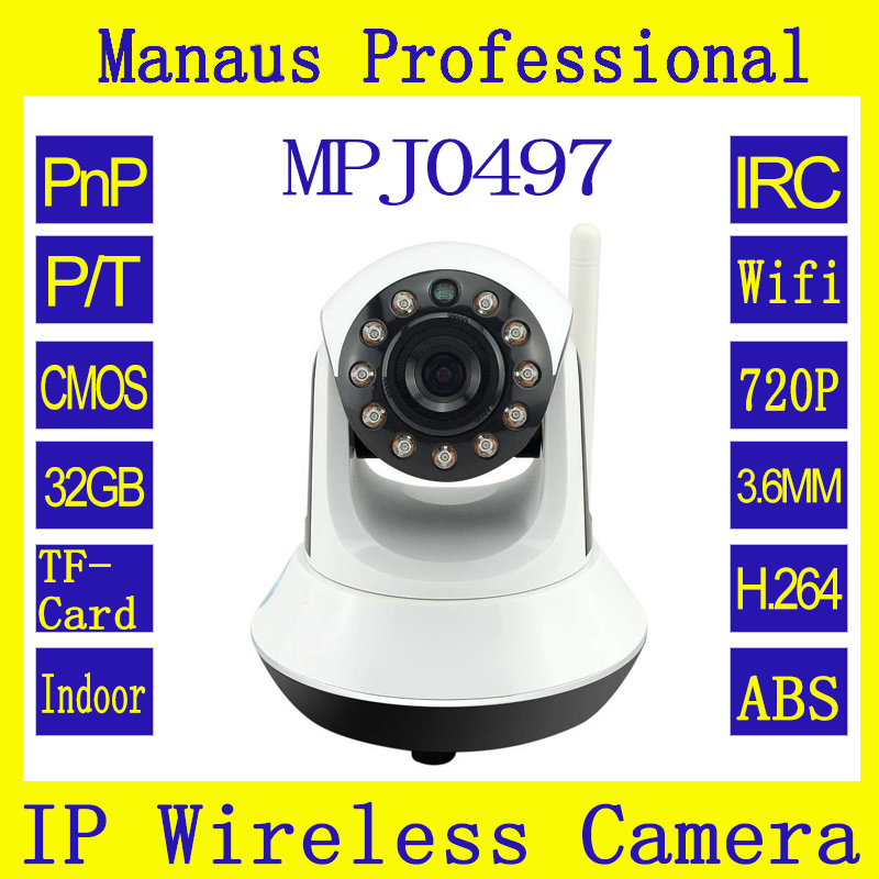 HD 720P IR Wireless IP Box Security Cameras P2P Onvif Network surveillance Camera Support Mobilephone 3.6mm J497a