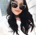 Cat eye Women Sunglasses 2017 New Brand Design Mirror Flat Rose Gold Vintage Cateye Fashion sun glasses lunette de soleil femme