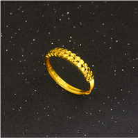 Pure 999 24K Yellow gold Ring Lady's Ring Can adjustable size 1.66g