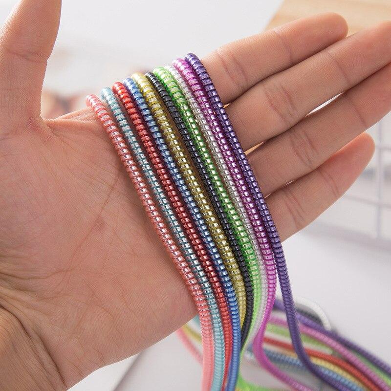 100 pièces 1.4 M USB charge données ligne câble protecteur fil cordon Protection câble enroulé enrouleur organisateur pour iPhone pour Samsung - 2