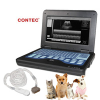 CONTEC Veterinary Portable VET Ultrasound Laptop Machine Veterinary 1 Probe for Cow Horse Animal