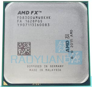 AMD FX 8300 FX8300 3.3 GHz Eight-Core 8M Processor Socket AM3+ FD8300WMW8KHK CPU 95W Bulk Package FX-8300