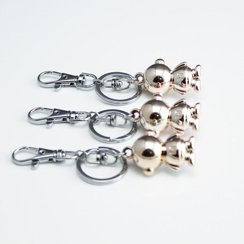 DHLFREE 100 PCS Adorável esmaltado Liga Macaco Anéis para Homens Mulheres Casal Amante Keychain da corrente Chave Da Novidade Presente Trinket - 3