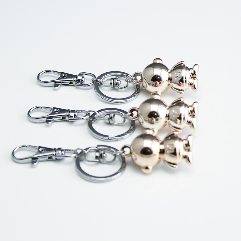DHLFREE 100PCS Lovely enameled Alloy Monkey Key chain Keychain Rings for Men Women Couple Lover Novelty Gift Trinket - 3