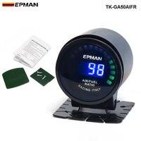PIVOT EPman Racing 52 Mm Smoked LED Digital Air Fuel Ratio AFR Gauge EP GA50AIFR
