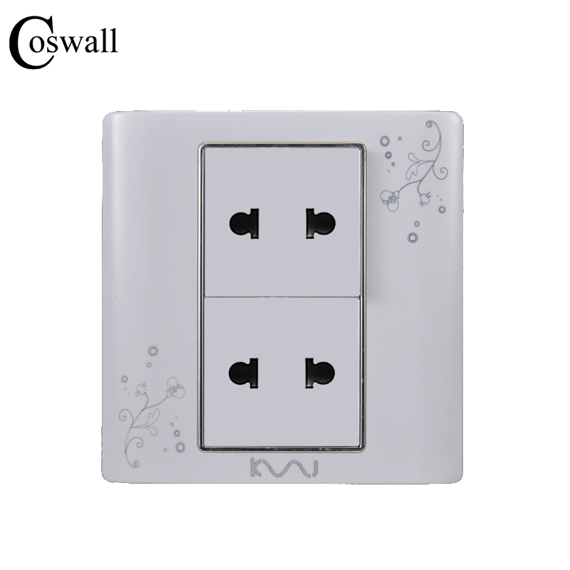 Coswall Universal Plug Luxury Wall Electrical Socket Multi-function 4 hole Power Outlet AC 110~250V
