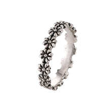 2016 New Korean Fashion Design Vintage Jewelry Antique Silver Plated Retro Cute Little Daisy Flower Rings For Women