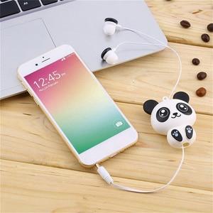 Image 2 - Kebidu 3.5mm 유선 귀여운 팬더 개폐식 이어폰 이어폰 스마트 폰용 헤드폰 헤드셋 어린이를위한 MP3 생일 선물