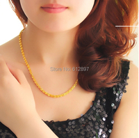 Hot sale Solid 999 24K Yellow Gold Necklace / Phoenix Chain Necklace / 10.99g