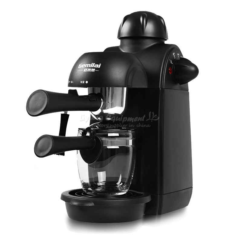 Household semi-automatic steam pump grinding milk bubble Italy type coffee maker Q10035 italy espresso coffee machine semi automatic maker cup warming plate kitchen
