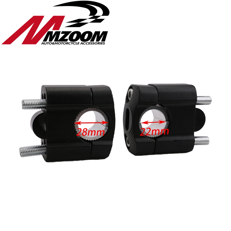 Free Shipping 1 Pair CNC 22mm 28mm Off Road Motorcycle Bar Clamps Handlebar Risers Adapter For 7/8