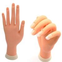 1 Pz Flessibile Molle Flectional di Plastica Mannequin Modello Strumento di Pratica Pittorica Nail Art A Mano Falso per la Formazione