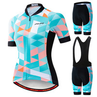 JPOJPO 2019 Pro Team Cycling Jersey Set Women MTB Cycling Clothing Anti-UV Bicycle Wear Short Sleeve Bike Clothes uniforme