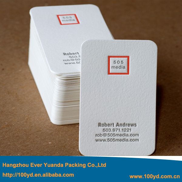 Round corner business cards 300gsm art paper customized letterpress round corner business cards 300gsm art paper customized letterpressdebossed business card 2015 new design colourmoves