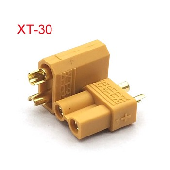 XT30 Yellow Battery Connector Set Male Female Gold Plated Banana Plug for Helicopter image