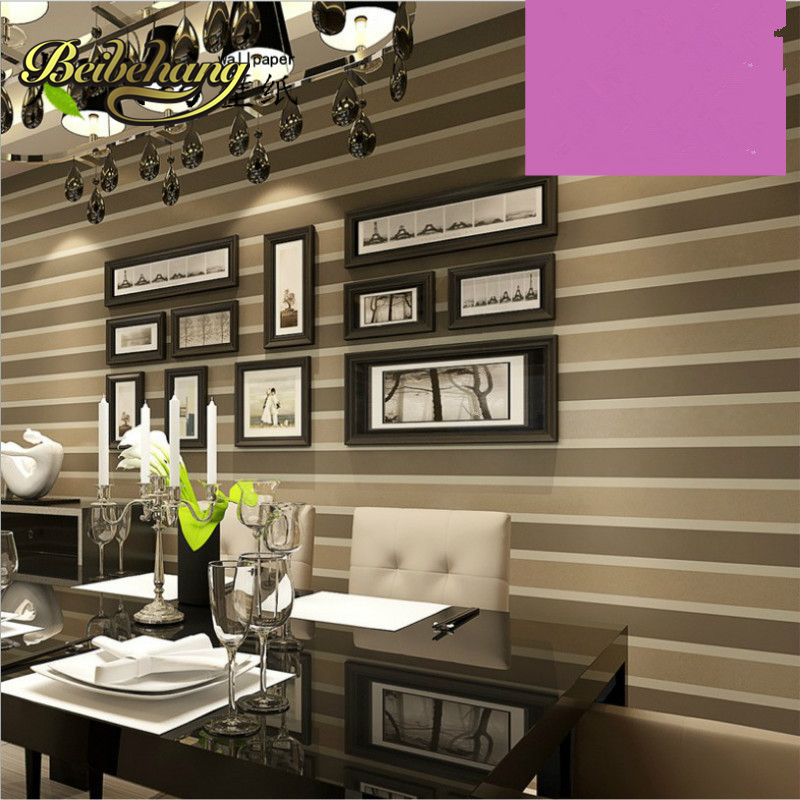 beibehang  vertical striped wallpaper living room bedroom papel de parede Non-woven wallpaper plain solid color fine lines