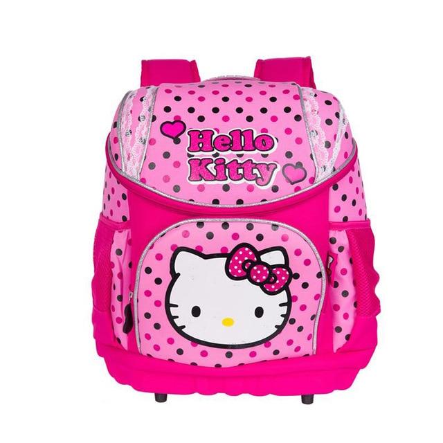 New 2015 Original Mochila Hello Kitty bag backpack Children School ...