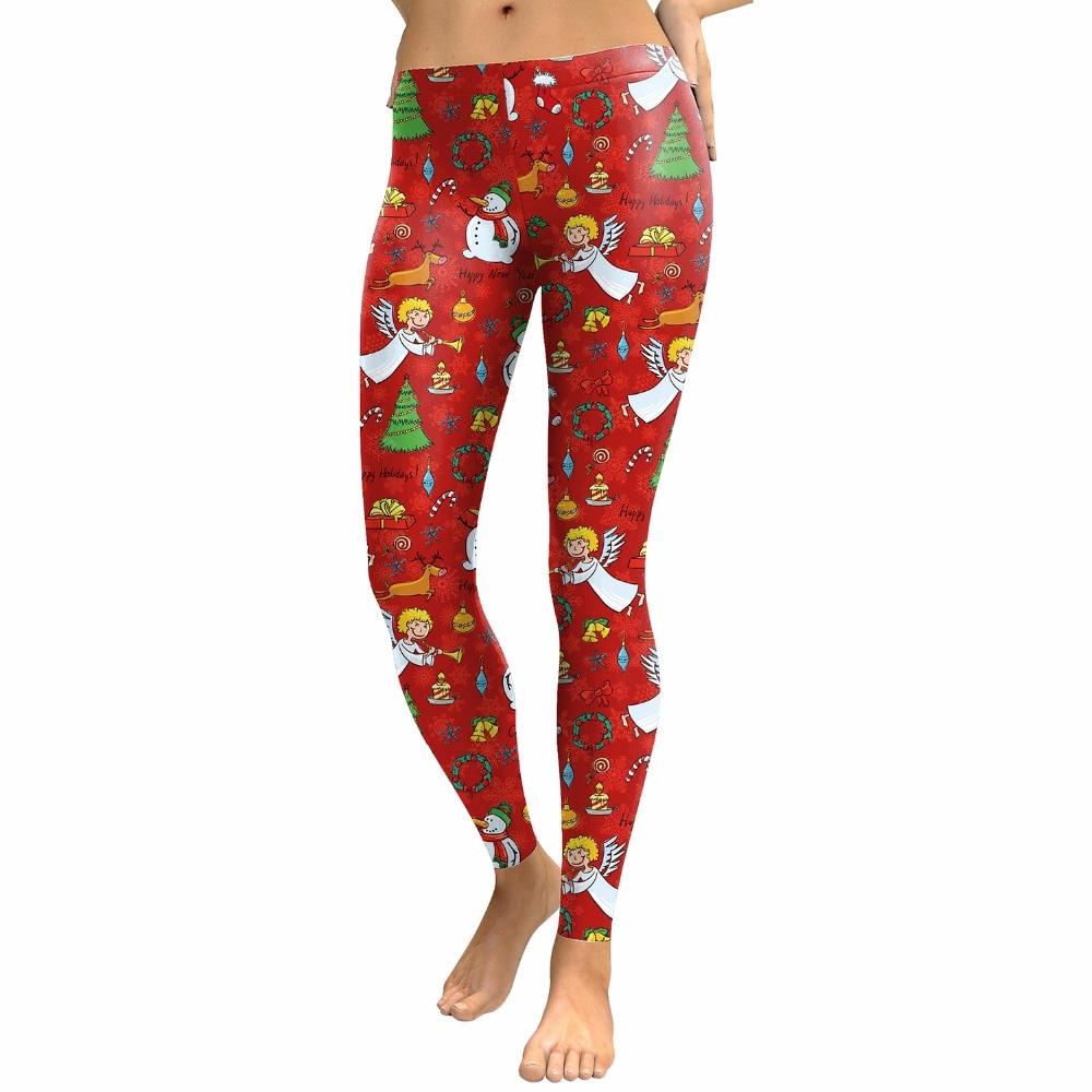 Women 3D Digital XMAS Marry Christmas Red Fitness Leggings 2018 Fashion Warm Winter Slim High Elastic Leggin Party Pants Trouser ...
