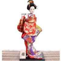 Красивые японской культуры гейши кимоно куклы ремесло новинка подарок украшение дома старинные домашнего декора