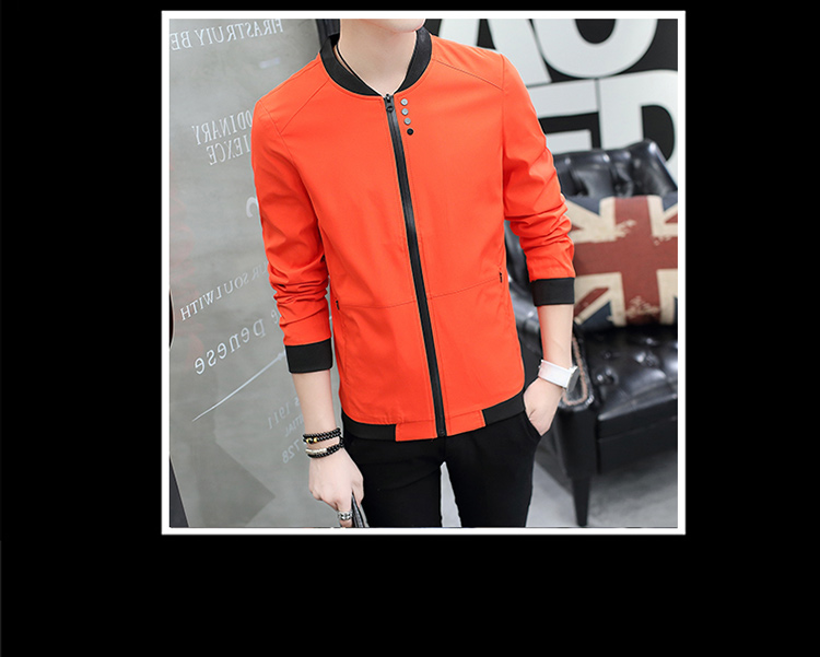 HTB1EuHVulmWBuNkSndVq6AsApXa5 Fall 2019 pure color collar jacket type teenagers cultivate one's morality Casual jacket