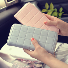 Women Money Clips Wallet Ladies Wallet Head Cow Leather Wallet Long Designer Money Clip Carteira Feminina 2017