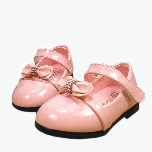 Сладкий детская обувь обувь для девочек мягкой подошвой ребенок сначала ходунки детские prewalkers стиль моды принцесса обувь одного