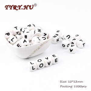 TYRY.HU Baby Silicone Beads Toys Tooth-Care English-Alphabet Food-Grade Bpa-Free 1500pcs
