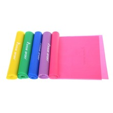 1.5m Yoga Pilates Stretch Resistance Band Exercise Fitness Training Purple Blue Green Yellow Pink free shipping