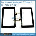 Высокое Качество Для HuaWei MediaPad 7 Youth2 Youth 2 S7-721U S7-721 HMCF-070-1167-V3 Планшет Сенсорный Экран Планшета Черный Цвет