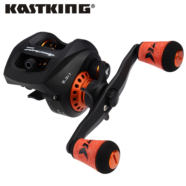 KastKing moulinet de pêche Baitcasting Speed Demon Pro, haute vitesse, avec frein magnétique, 9.3:1 12 + 1BBs, en Fiber de carbone