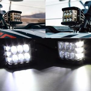 "Image 3 - 2/10PCS 4 ""3 Seiten Shooter 60W Led Arbeit Licht Cube Off Road 4x4 ATV Led Licht Fahren Lampe für SUV Lkw Auto Boot 10 30V"