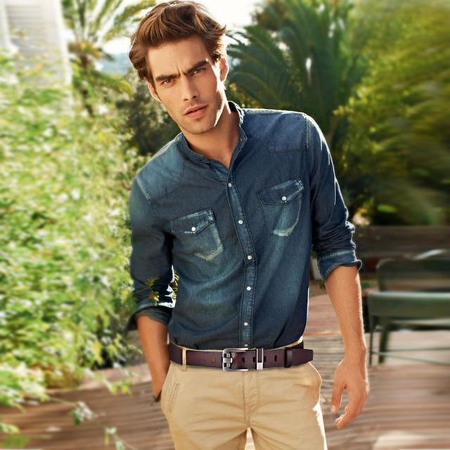 Men's Genuine Leather Belts, Luxury Buckle
