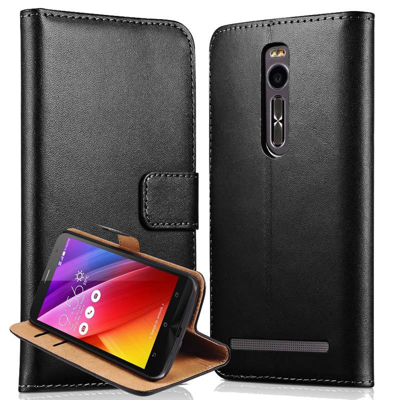 Flip Wallet Style Genuine Leather Case For Asus Zenfone 2 ze551ml Coque Phone Bag Back Cover For Asus Zenfone 2 ze551ml