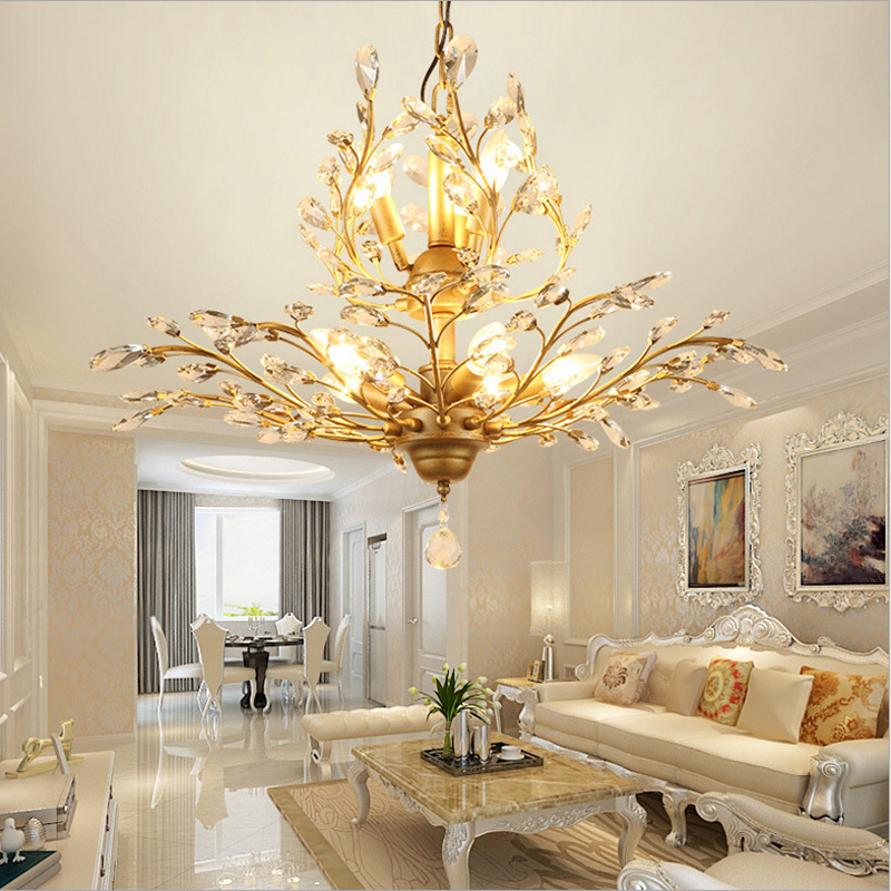 Ceiling Lights & Fans Chandeliers Industrial Iron Multi-heads Chandelier Fashion Golden Chrome Vintage Living Room Bedroom Dining Room Decor E27 Pole Chain Lamp With The Best Service